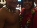 Sylvia R. with Hawaiian Performer