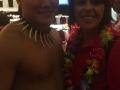 Sylvia R. with Hawaiian Performer