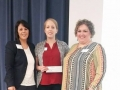 Scholarship Recipient Ann Hunt with Sylvia Ramirez and Tammy Cervantes