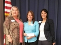Scholarship Winner Stacy with Della Moon and Sylvia Ramirez