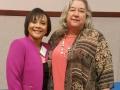 Presenter Della Moon and Carla Ruffins