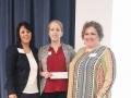 Scholarship Recipient Ann Hunt with Sylvia Ramirez and Tammy Cervantes