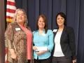 Scholarship Winner Stacy with Della Moon and Sylvia Ramirez
