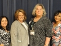 San Jacinto College North Campus Health Information Instructors with HAHIMA President & President Elect