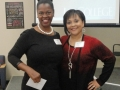 Dr Fanny C. Hawkins, Presenter of Post ICD-10 Implementation Issues, with Carla Ruffins