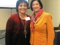 Nora Belcher, Presenter of Legislative Update, with Carla Ruffins