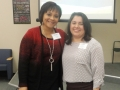 Jasmine Johnson, Presenter of Reality of ICD-10 for Medical Practices, with Carla Ruffins
