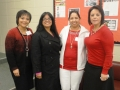 Meeting Registration Winners, Melissa Miles and Renu Choudhary with Carla Ruffins and Sylvia Ramirez