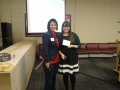 Presenter Alexa Poole with President Sylvia Ramirez