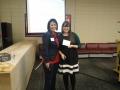Presenter Alexa Poole with President Sylvia Ramirez
