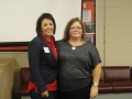 Presenter Jennifer Stone and President Sylvia Ramirez