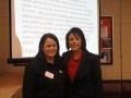 Presenter Stacy Hardin and President Sylvia Ramirez