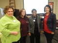 Tammy Cervantes, Meeting Registration Winners Donna DeHover and Tracy Welch, with Sylvia Ramirez