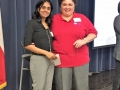 Exam Fee Reimbursement Winner Reetika Asati with Tammy Cervantes