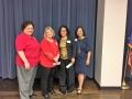 Scholarship Winners Bobbie Lescombes and Gina Thomas