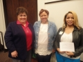 Tammy Cervantes with Meeting Registration Winners Gladys Charles and Tiffany Jenkins