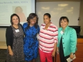 Sylvia Ramirez and Carla Ruffins with Meeting Registration Winners, Stephanie Mensch and Shanell Burns