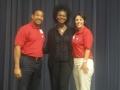President Elect Austin Frazier, Dr. Teriya Richmond and President Sylvia Ramirez