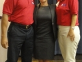 President Elect Austin Frazier, Rachel V Rose, and President Sylvia Ramirez