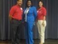 President Elect Austin Frazier, Presenter Carol F. Smith, President Sylvia Ramirez